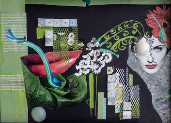 Sin título, 2011 [Untitled] Collage sobre cartón [Collage on cardboard[ 35 x 50 cm [14 x 20 in]