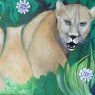 Puma Ñaró. 2020. Óleo sobre lienzo. 60 x 80 cm