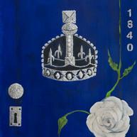 Azul Coronación, 2014 Óleo sobre lienzo. 80 x 60 cm