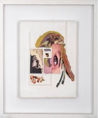 Al reves, 2010 [Backwards] Técnica mixta sobre tela [Mixed media on canvas]  25 x 18 cm  [9.8 x 7.1 in]