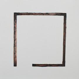 Espacio 1. Serie Reconstruyeno. 2015 [Space 1 space from Rebuilding Series] Acuarela sobre papel [Watercolor on paper] 33 x 33 cm [13 x 13 in] Colección particular [Private Collection]