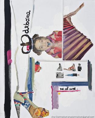 Nace Deborah, 2011 [Deborah is born] Técnica mixta sobre tela [Mixed media on canvas] 50 x 40 cm [19.6 x 15.7 in]