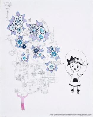 Deborah sueña, 2011 [Deborah dreams] Técnica mixta sobre tela [Mixed media on canvas]50 x 40 cm [19.6 x 15.7 in]