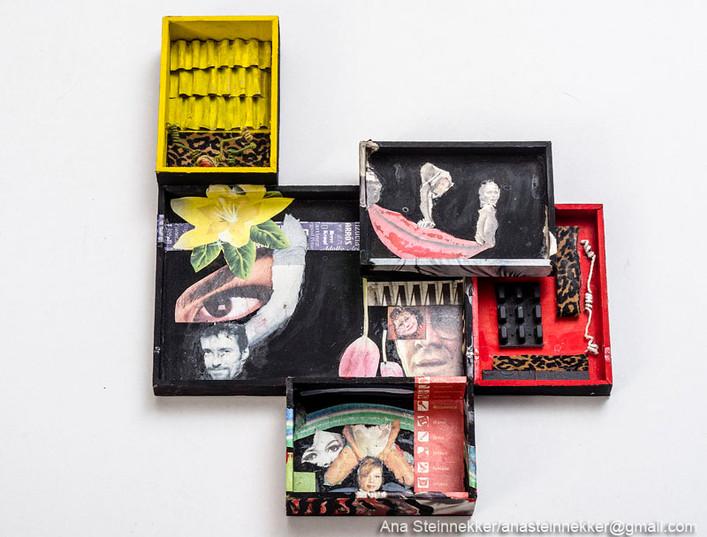 Caja 10. Serie Cajas, 2010 [Box 10 from Box Series] Técnica mixta sobre madera [Mixed media on wood] 26 x 23 cm [10 x 9.1 in]