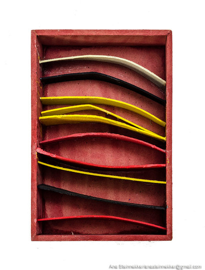 Caja 3. Serie Cajas, 2010 [Box 3 from Box Series] Técnica mixta sobre madera [Mixed media on wood] 12 x 8 cm [4.7 x 3.1 in]