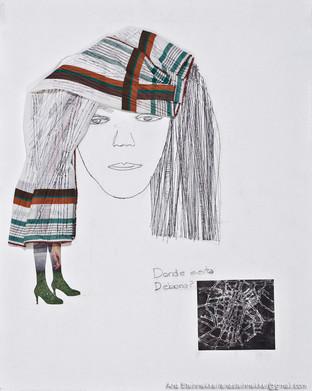 ¿Dónde está Deborah?, 2011 [Where is Deborah?] Técnica mixta sobre tela [Mixed media on canvas]50 x 40 cm [19.6 x 15.7 in]
