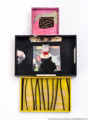 Caja 4. Serie Cajas, 2010 [Box 4 from Box Series] Técnica mixta sobre madera [Mixed media on wood] 26 x 15 cm [10 x 5.9 in]