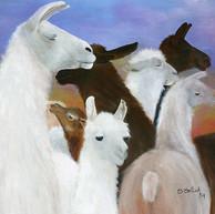 Llamas. 2004. Óleo sobre lienzo. 70 x 90 cm