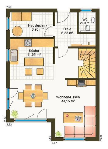 modernes Cubushaus Grundriss Bayern Preis