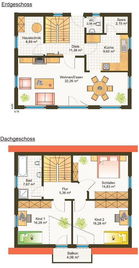 Fertighaus Grundriss modernes Einfamilienhaus  Bayern Preis