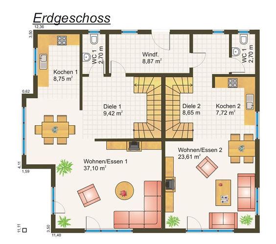 Zweifamilienhaus Grundriss Fertighaus Bayern Preis