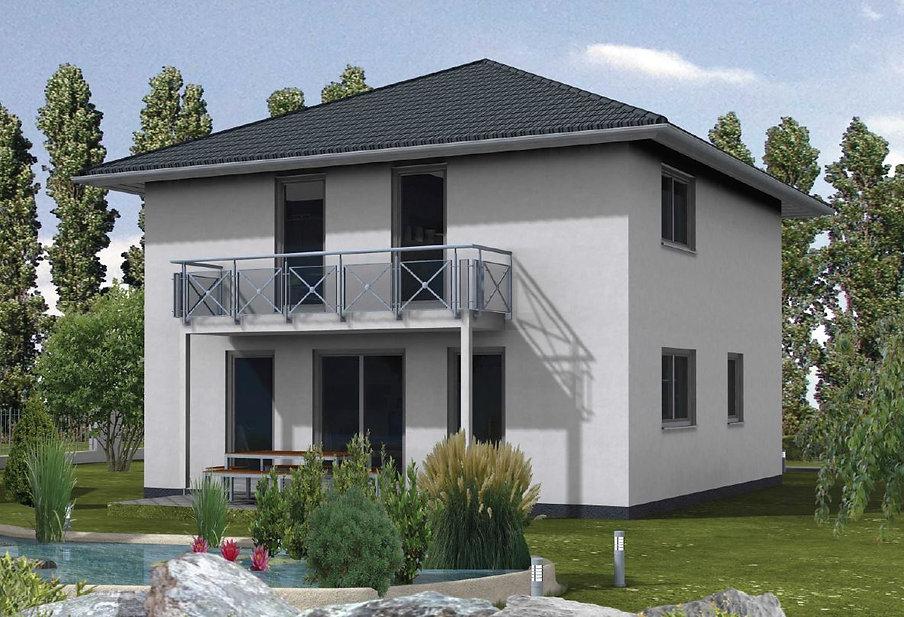 Stadtvilla Zeltdach Walmdach Fertighaus  Bayern Preis
