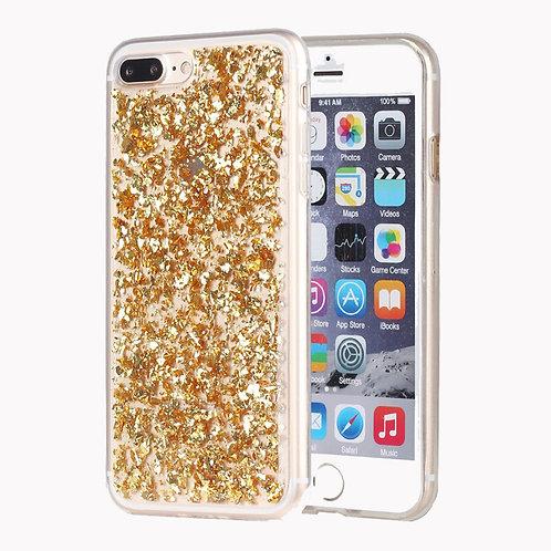 Luxury Bling Glitter Sparkle [Gold Foil Embedded] Soft TPU shell case LMT-PH-121