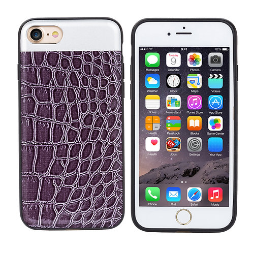Trending Products Crocodile Grain TPU Leather Mobile Phone Case       LMT-PH-482