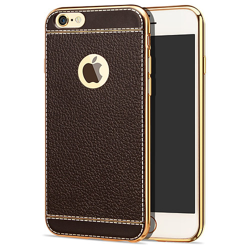 Printed Leather Grain TPU Cell Phone Case Cover for iphone 7 LMT-PH-037