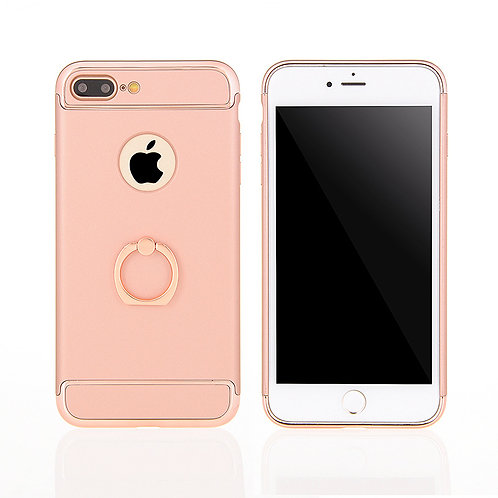 Ultra-thin 3in1 Shockproof PC ring back mobile phone case LMT-PH-061