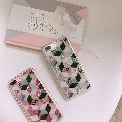 Luxury Bling Sparkle Flowing Quicksand Liquid Glitter Soft TPU Case LMT-PH-558