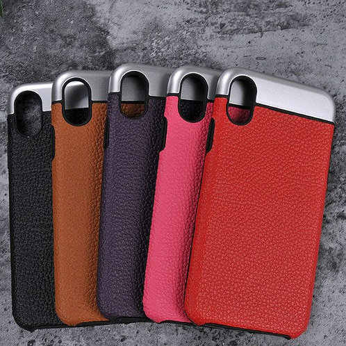 Real Genuine Leather Phone Case for iPhone 8 LMT-PH-503