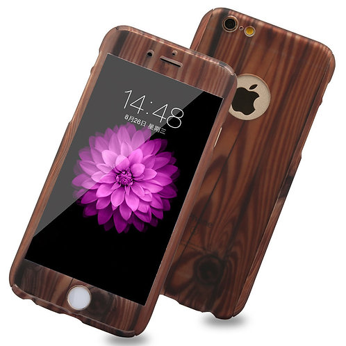 360 degree protective wooden grain phone case LMT-PH-001
