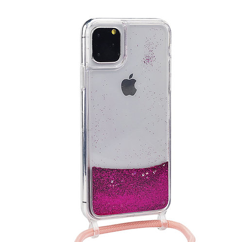 Bling Glitter Strap Liquid Sand Phone Case