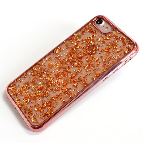 Electroplated Bumper Frame and Bling Glitter Phone Case
