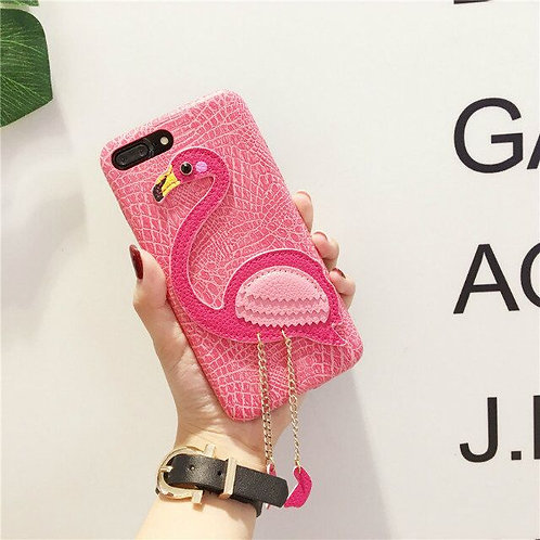 New Luxury Custom Flamingo Lichee PU Leather Mobile Phone Cases  LMT-PH-601