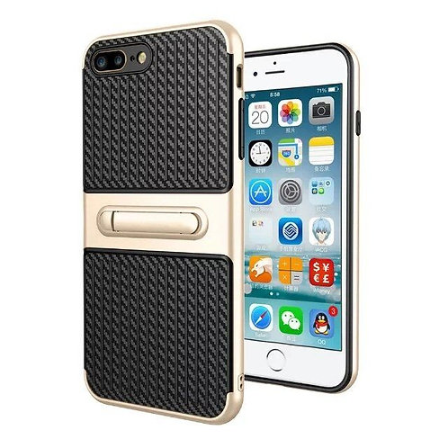 Carbon Fiber Grain Hybrid Case with kickstand for iphone 7 LMT-PH-005