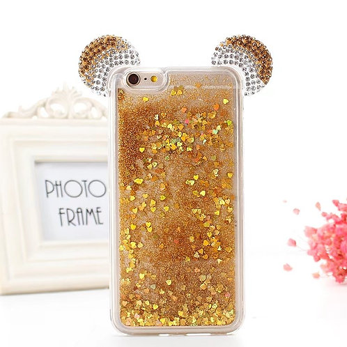 3D Bling Rhinestone Liquid Glitter Quicksand Phone Case               LMT-PH-557