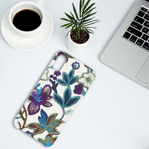 New 3D Embroidery Flowers Leather Phone Case for iPhone 8  LMT-PH-615