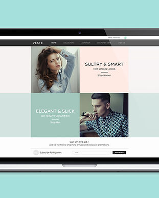 Web Design de mode