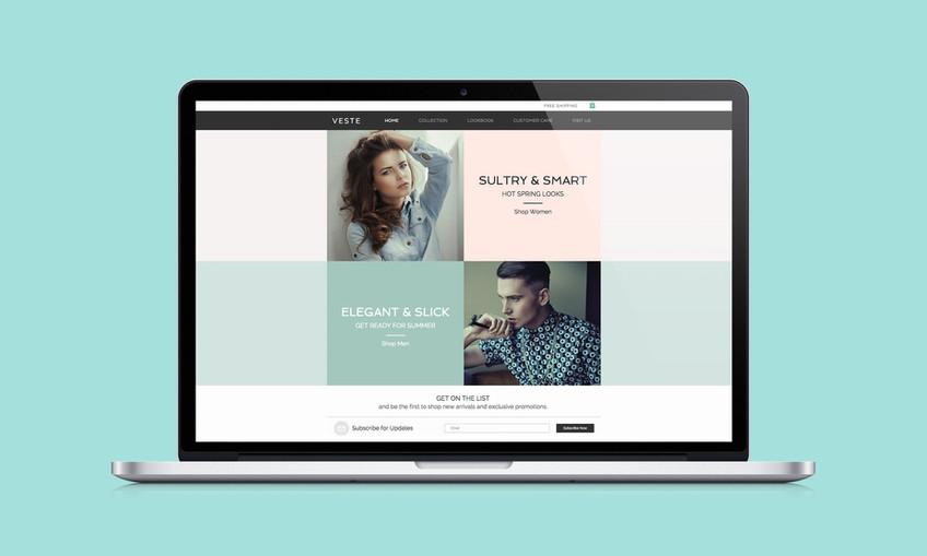 Web Design de mode