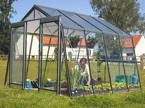 Seră de grădină cu pereții oblici  - Gama ACTIUNE 9,12m2