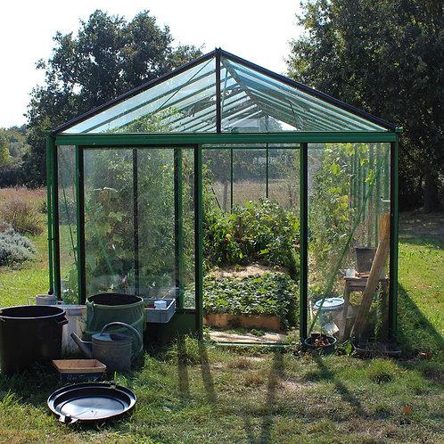Seră de grădină cu pereții drepți  - Gama LUX 14,10m²