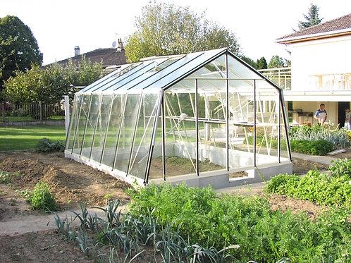 Seră de grădină cu pereții oblici S205H- Gama STANDARD 14,09m²