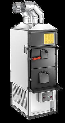 generator de aer cald pe combustibil biomasă cu alimentare manuala