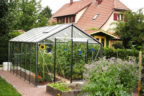 Seră de grădină cu pereții drepți R304H - Gama STANDARD 9,11m²