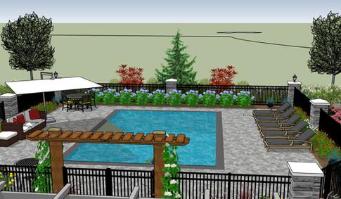 Enclosed Pool Garden