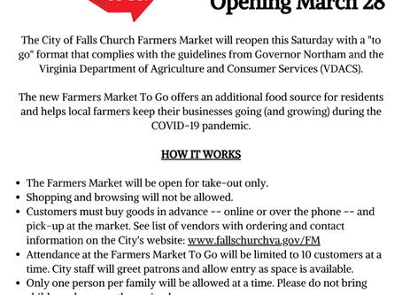 "Falls Church Farmers Market ""To Go"""