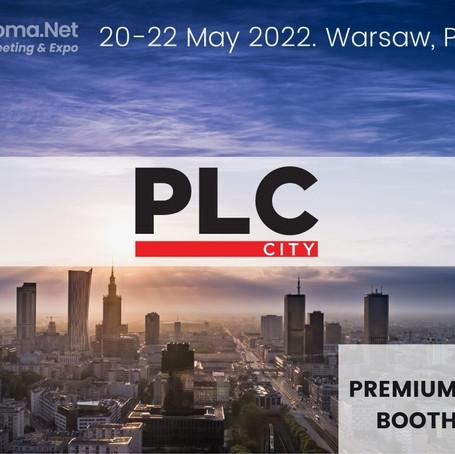 New DOUBLE Premium Booth Exhibitor. Welcome PLC-City!