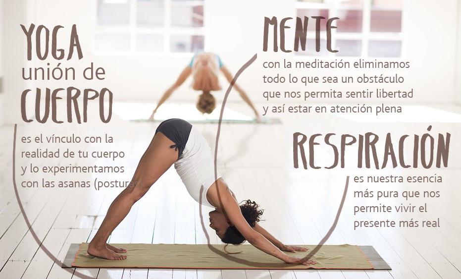 En las postura de yoga se conjugan varios factores importantes para una buena práctica.