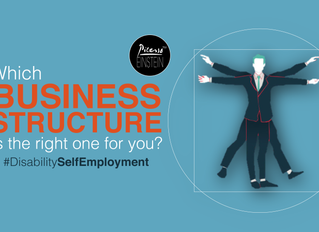 #DisabilitySelfEmployment: Which business structure is right for me?