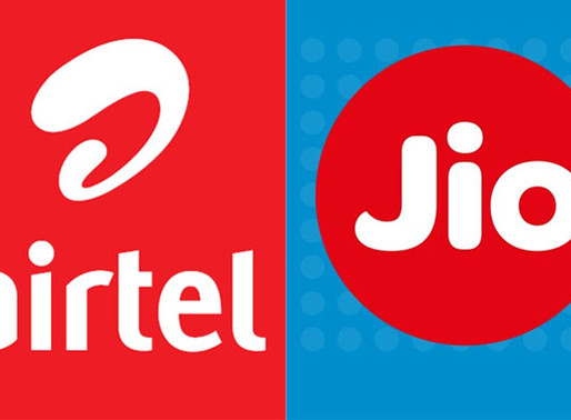 Reliance JIO overtakes Bharti Airtel to Become 2nd Largest Telecom Operator in India