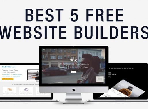 Top 5 Website Builders (2019)