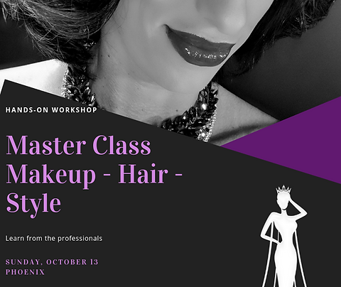 Master Class Workshop: Makeup, Hair, Style, Coaching and Photoshoot...and more