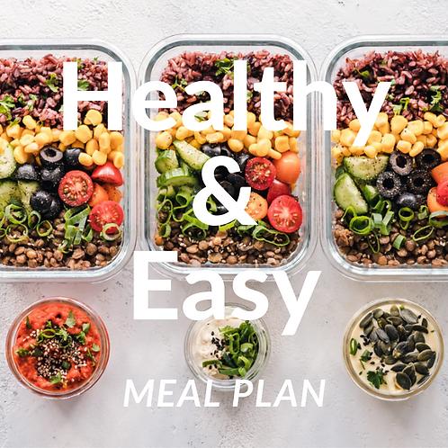 One week Healthy Meal Plan