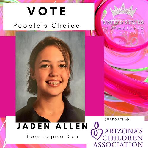Jaden Allen, Teen Laguna Dam