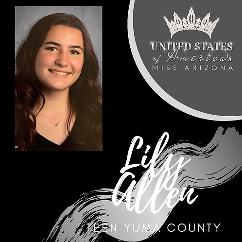 Lily Allen, Teen Yuma County