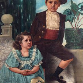 Retrato de mis hijos [Retrato de Flora y Guido Echandi Kisch] - Enrique Echandi