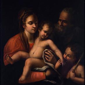 Sin título [Sagrada Familia con San Juan Bautista] - Autor desconocido