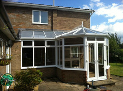 Completed P shaped conservatory